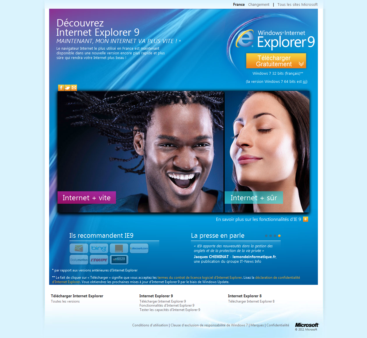 Internet Explorer 9 enfin disponible !