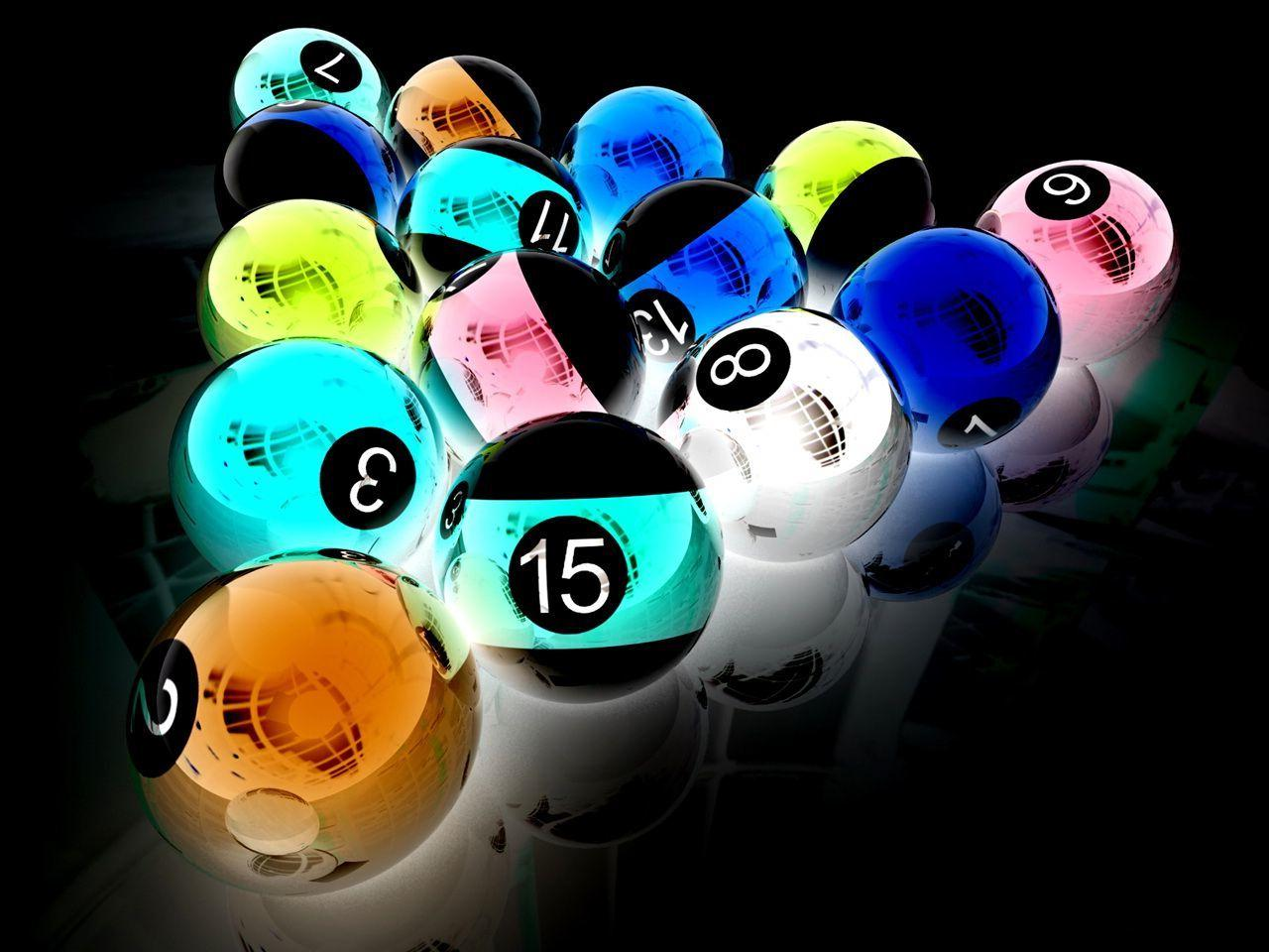 Loic Dl Wallpapers Boules De Billard 3d