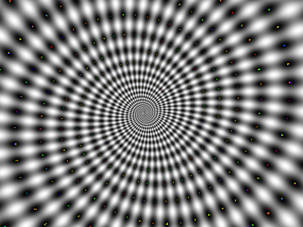 Hypnotic Spinning Spiral Optical Illusion