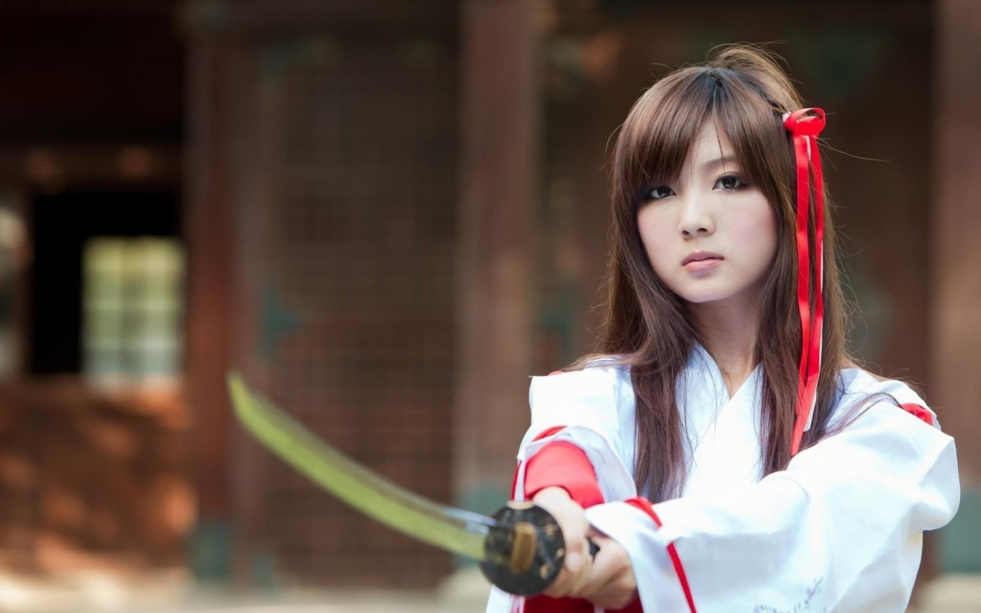 Girl With Samurai Sword