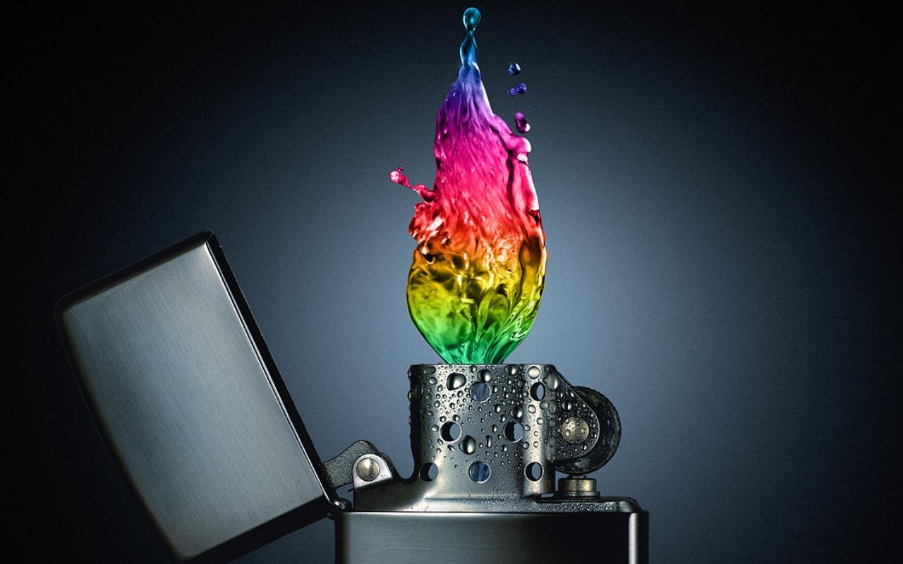 Zippo Water Colors Light