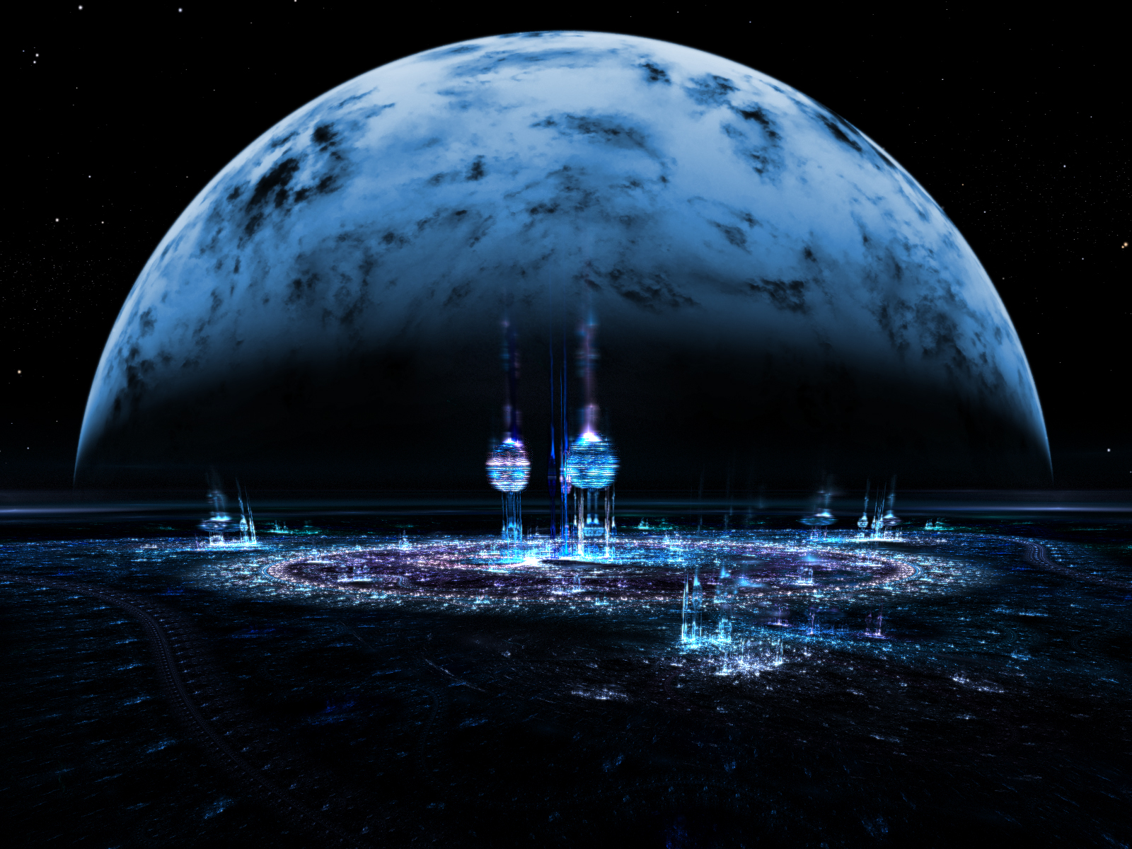 3d Space Scene