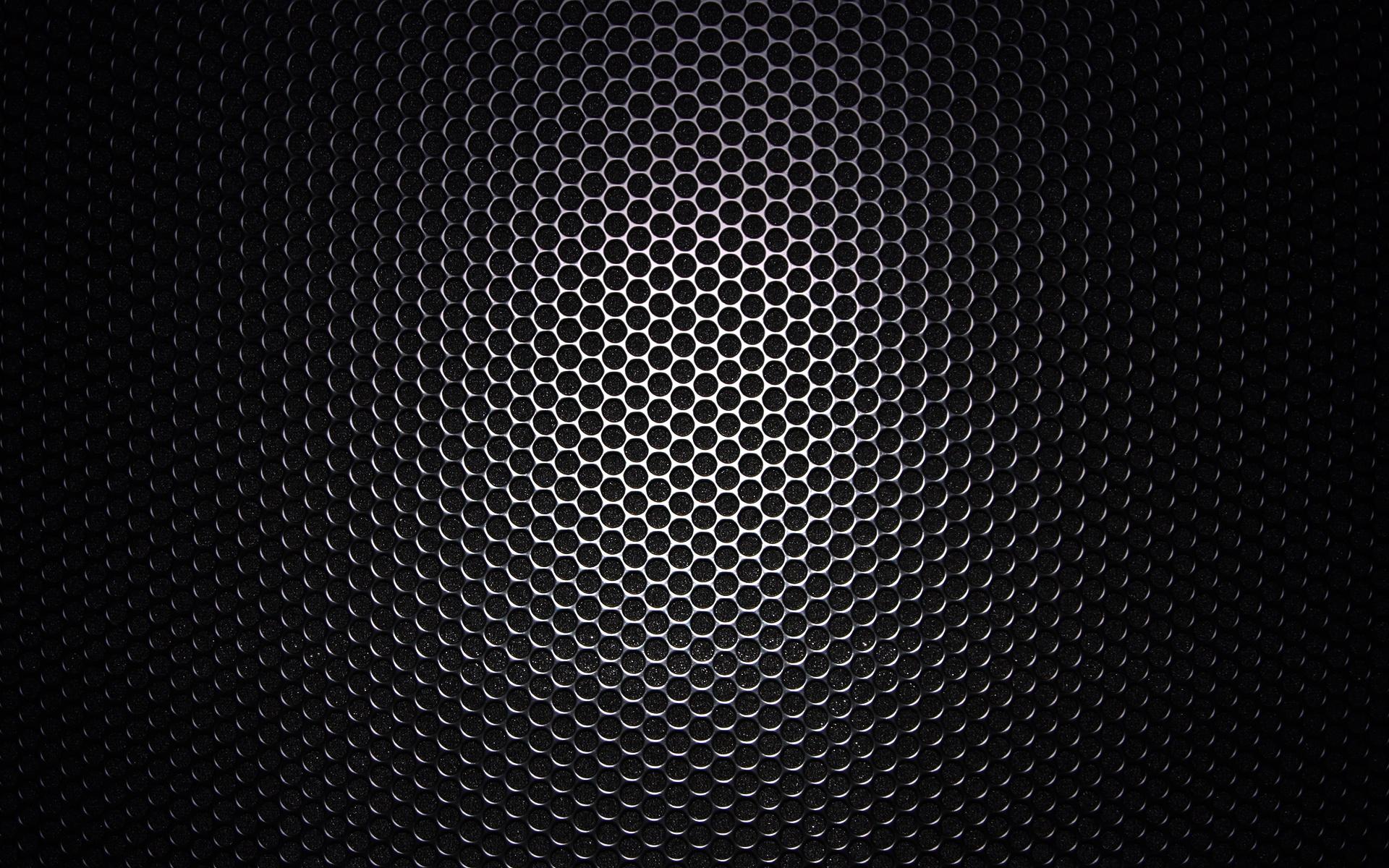 Black Honeycomb Pattern