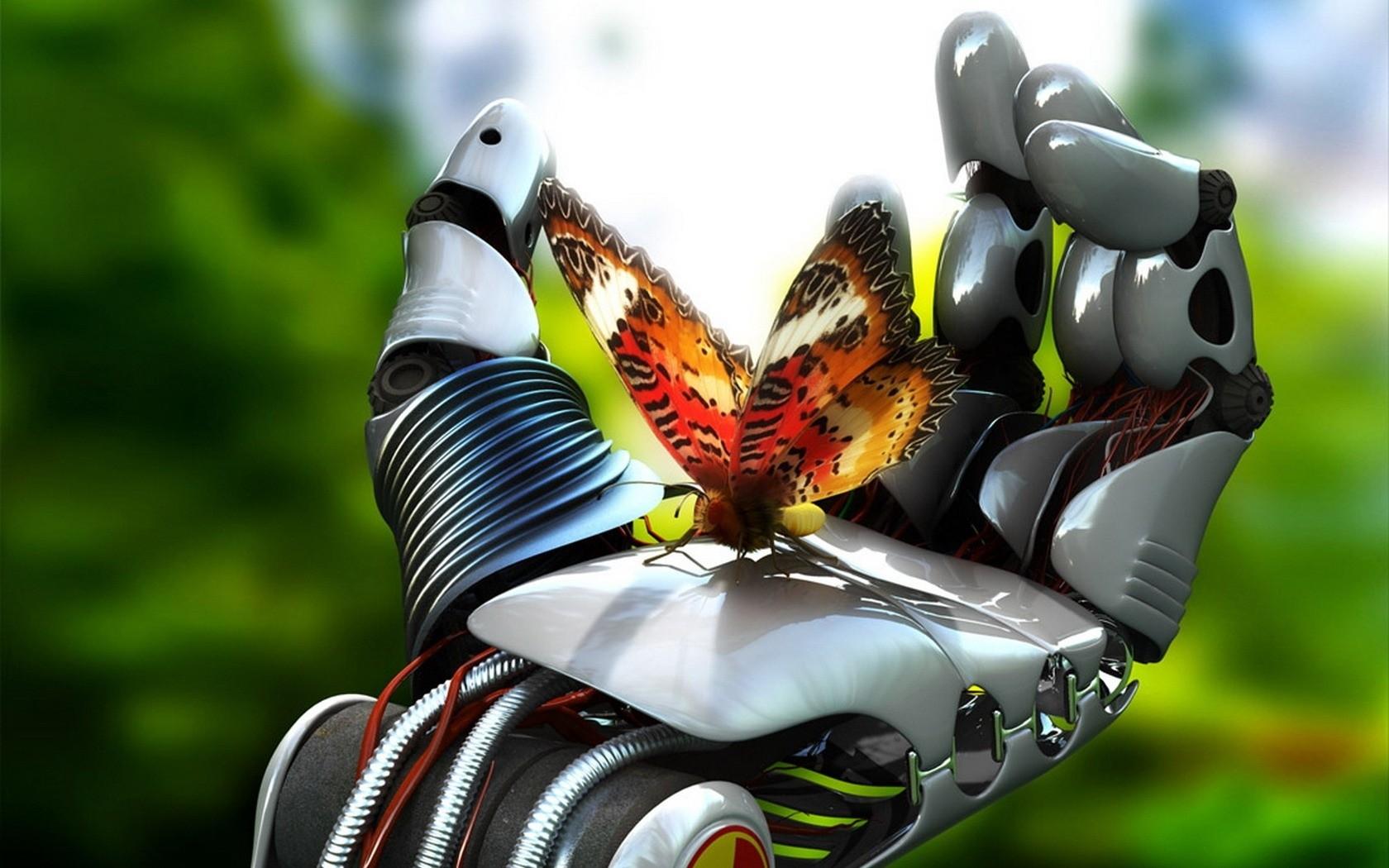 Robot Hand & Butterfly
