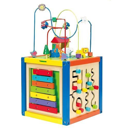 jouets en bois universe of imagination cube multi activit s en bois. Black Bedroom Furniture Sets. Home Design Ideas