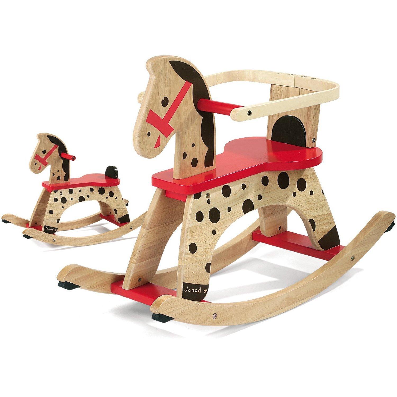 jouets en bois janod cheval a bascule caramel avec protection. Black Bedroom Furniture Sets. Home Design Ideas