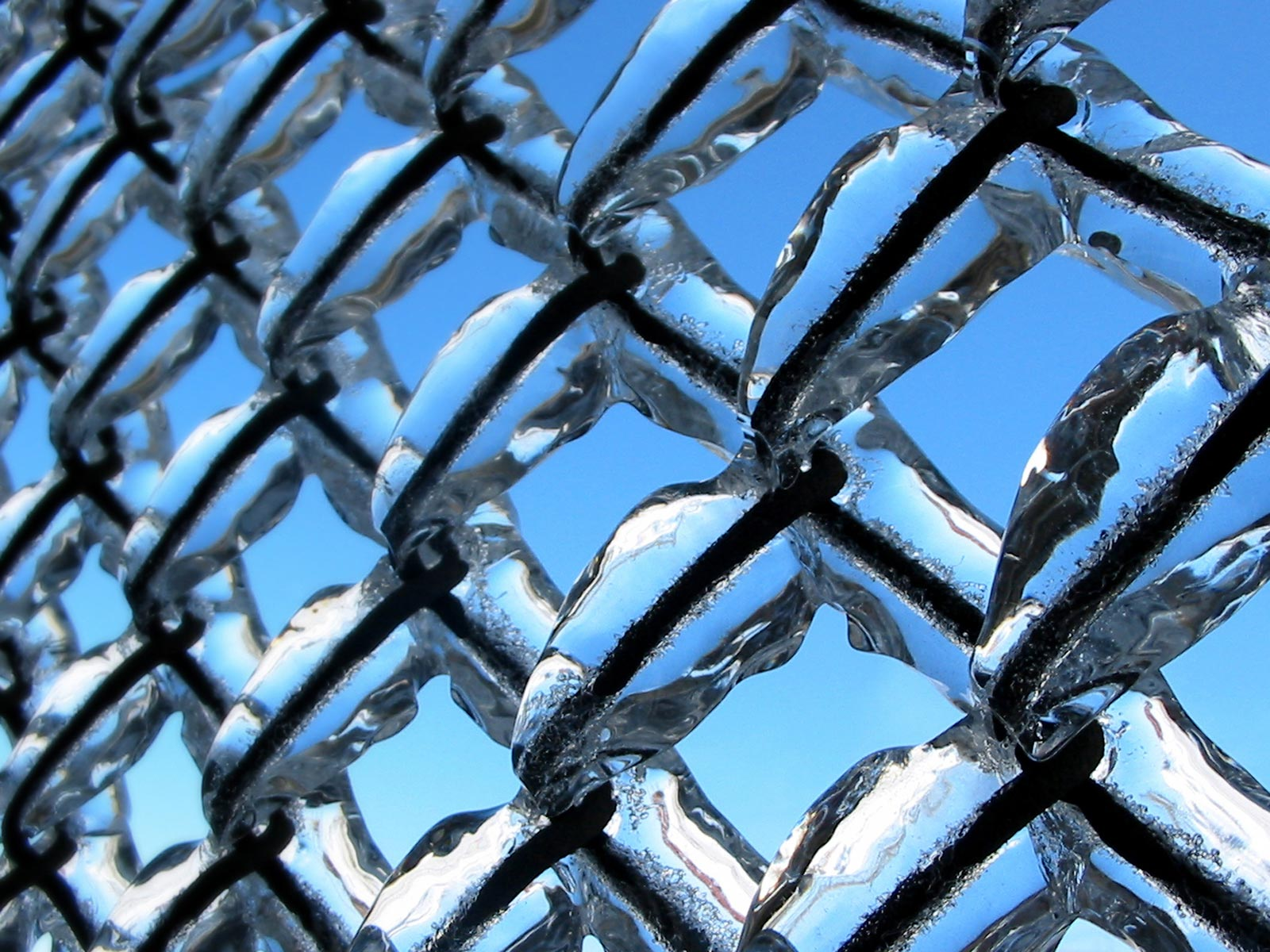 Ice Chain Link Fence