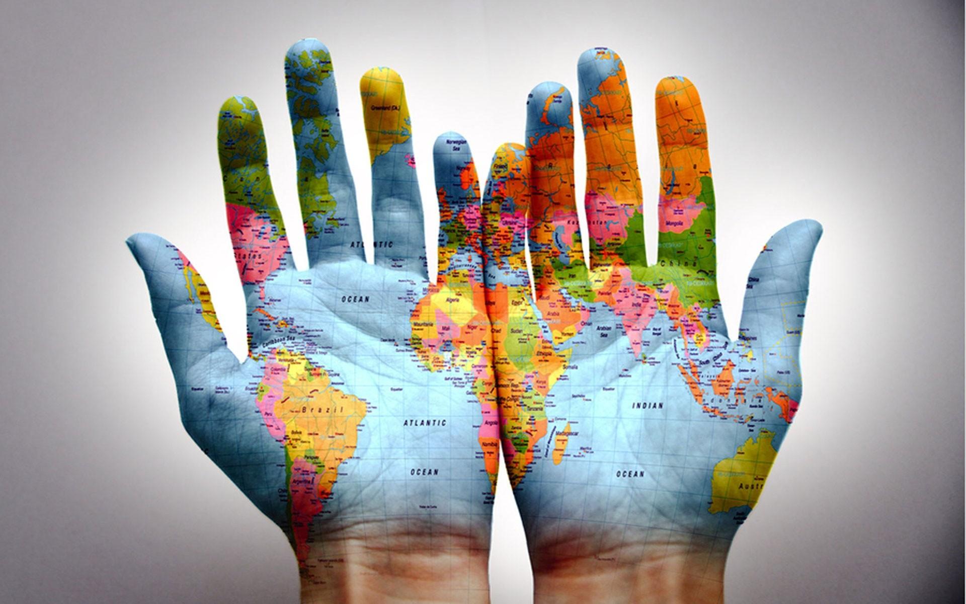 Hands World Map