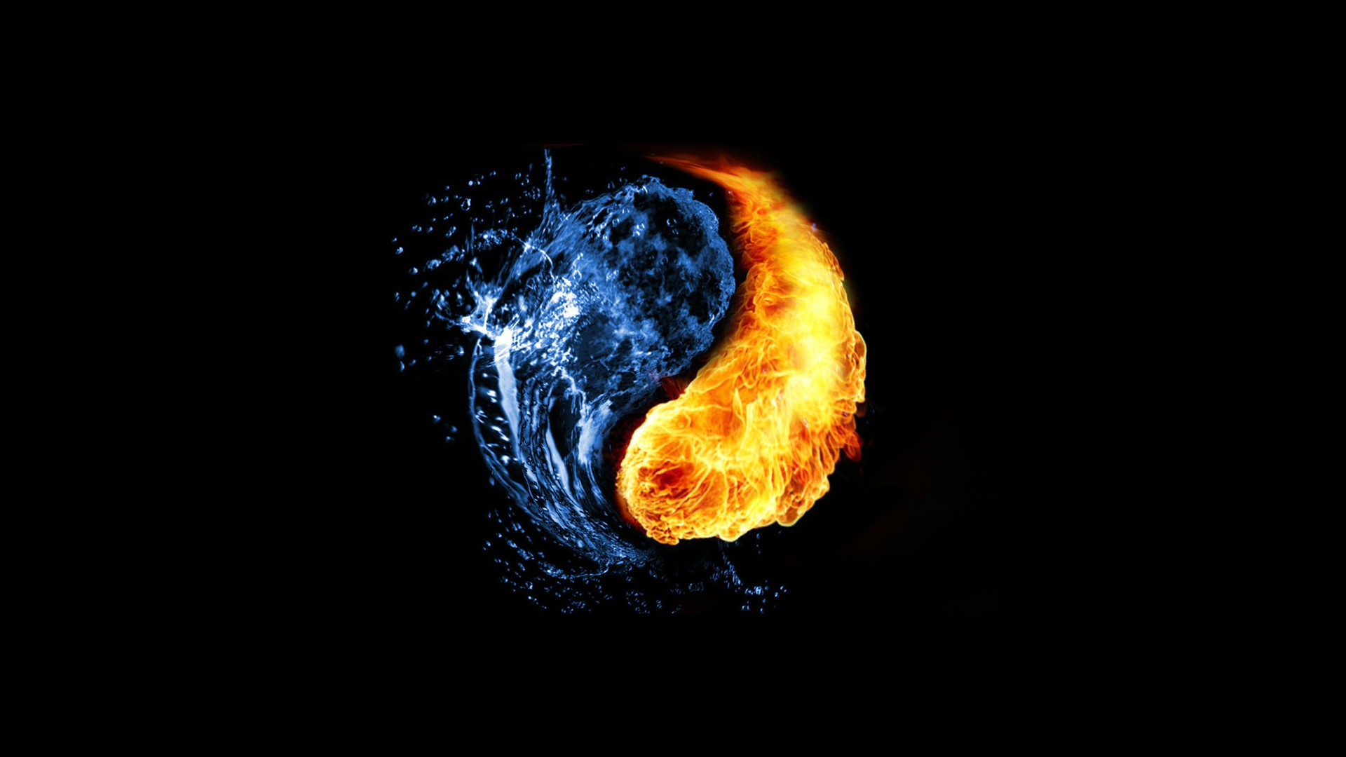 Abstract Flames Fire And Water