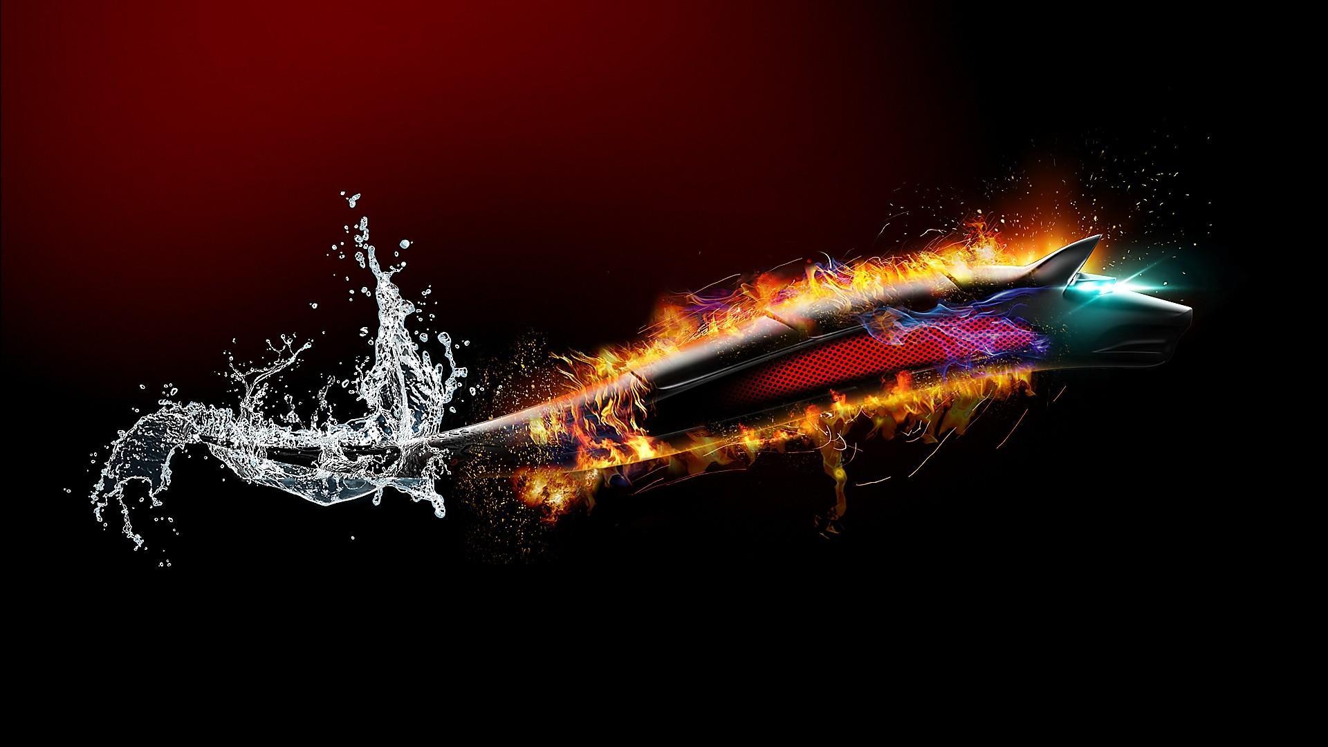 Water Fire 3d