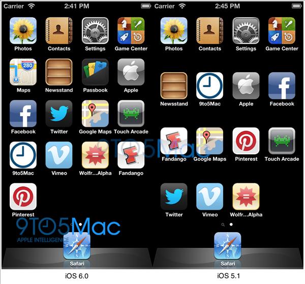 iOS 6 fait référence à une définition de 1136 x 640 pixels